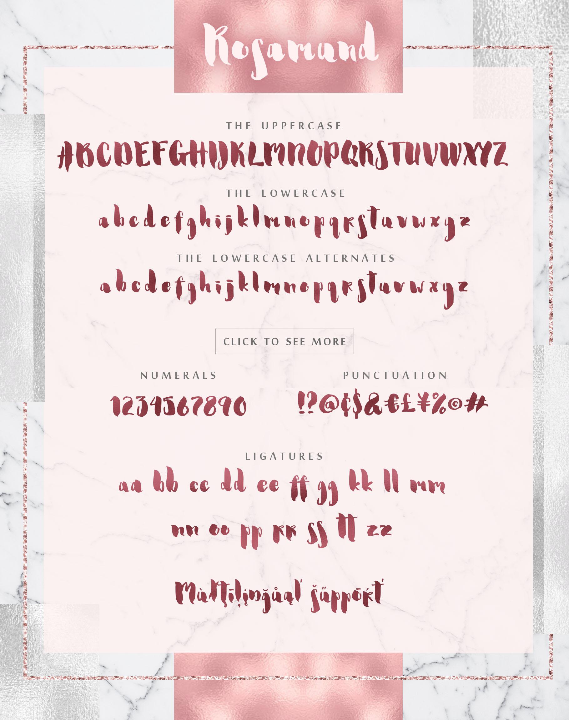 Rosamund script & Extras example image 2