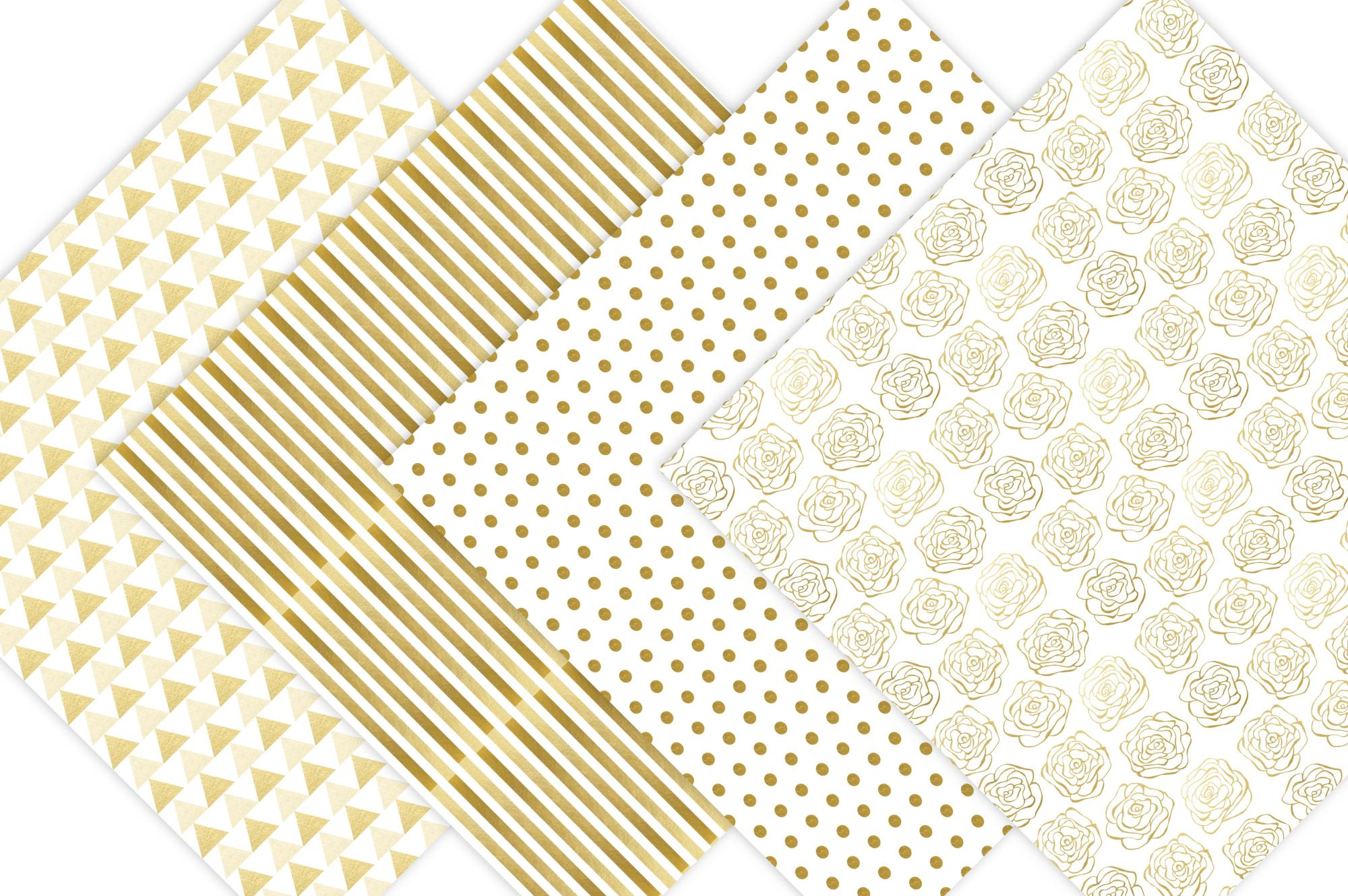 Gold Digital Paper example image 3