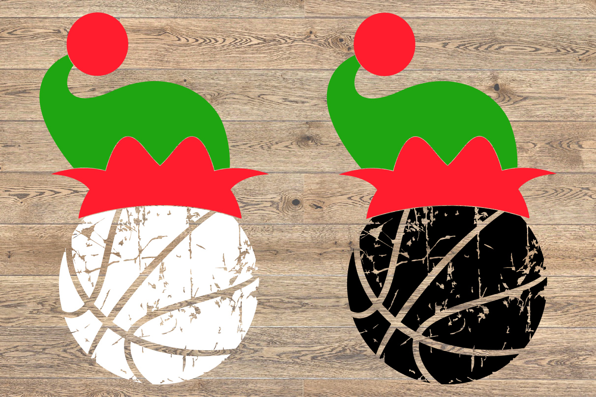 Basketball Christmas Hat svg Elf sweater santa hat 1049s example image 2