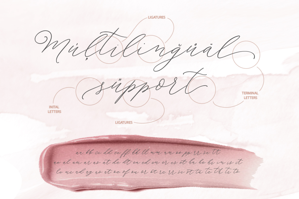 Morning tea. Script font. example image 12