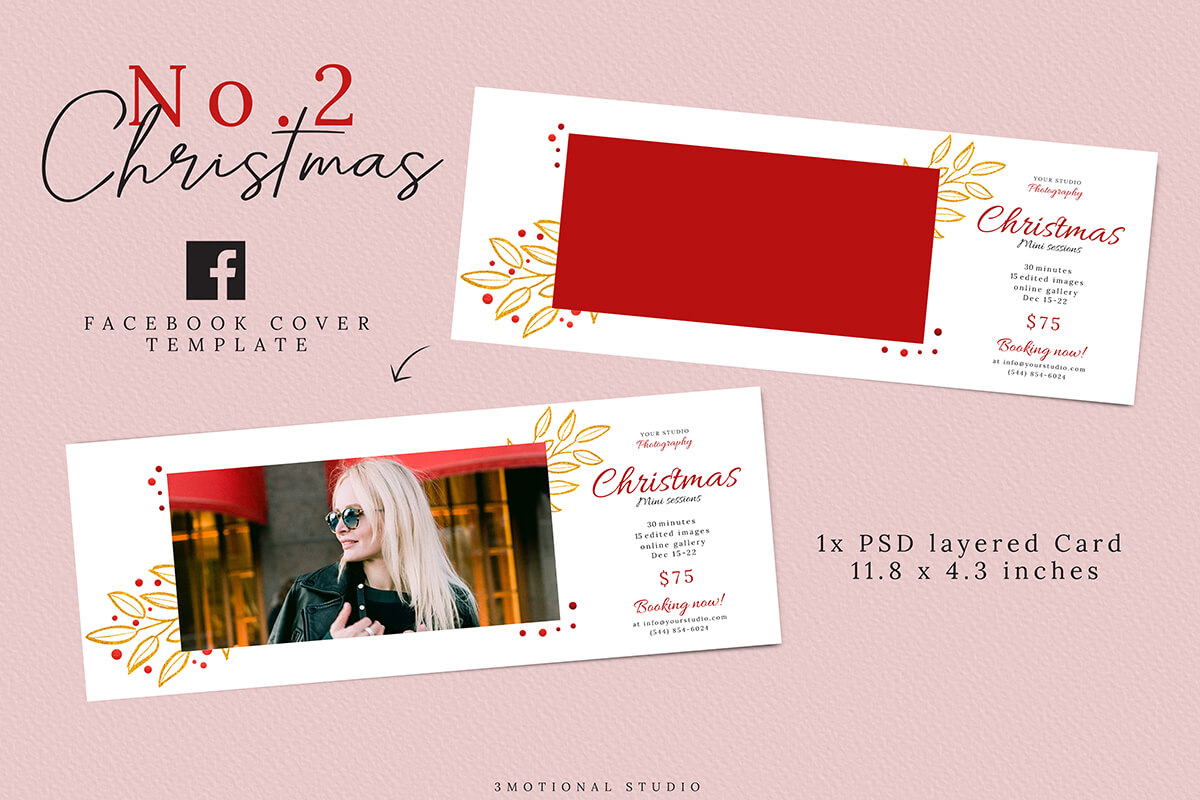 Christmas Mini Sessions Template 04 example image 5