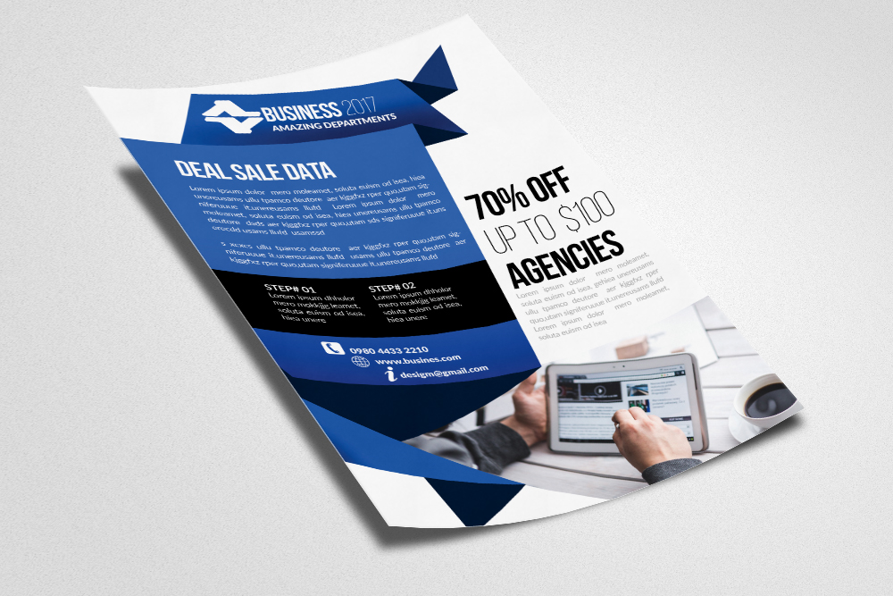 IT Technology Computer Flyer Template example image 2