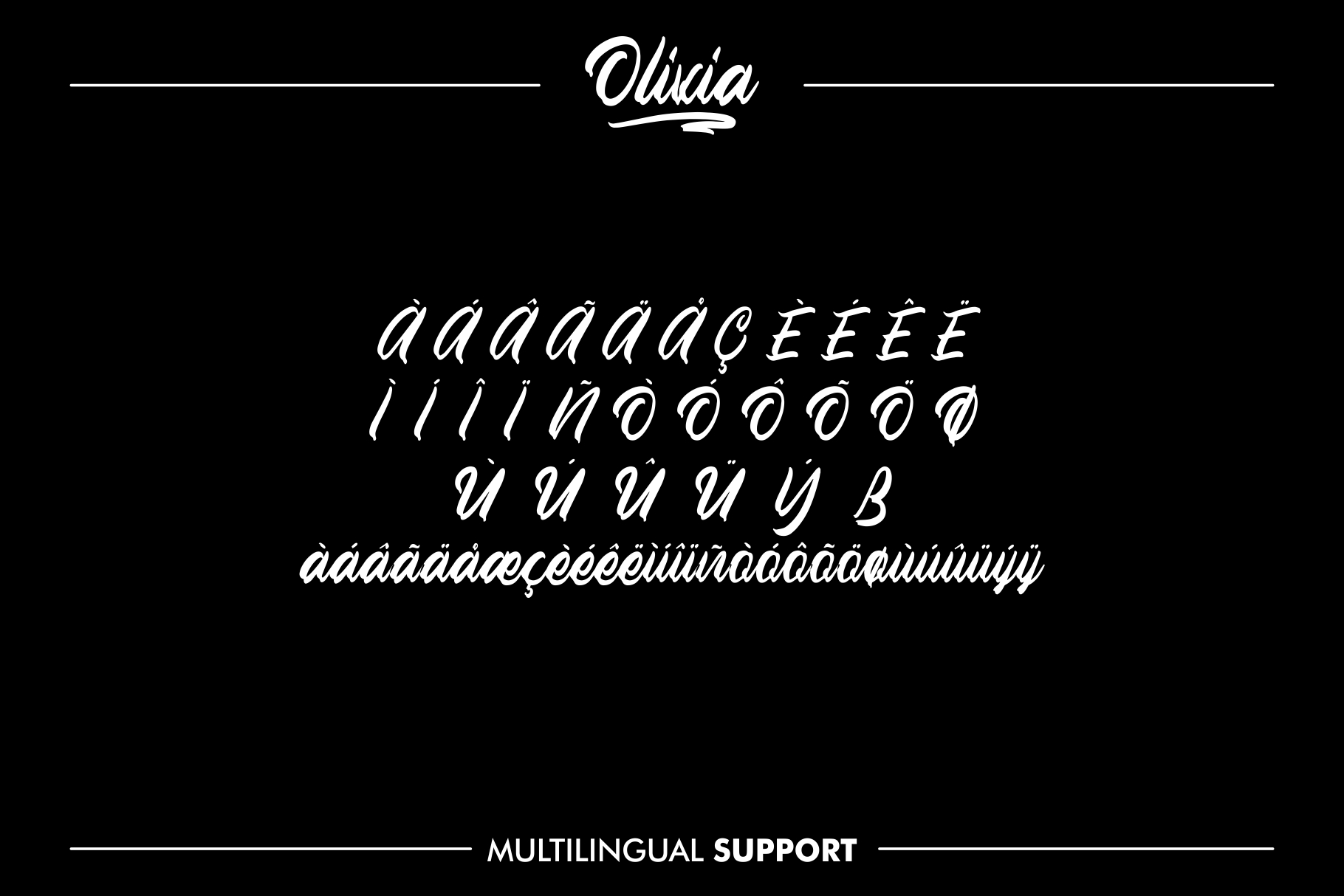 OLIVIA Handlettering Fonts example image 4