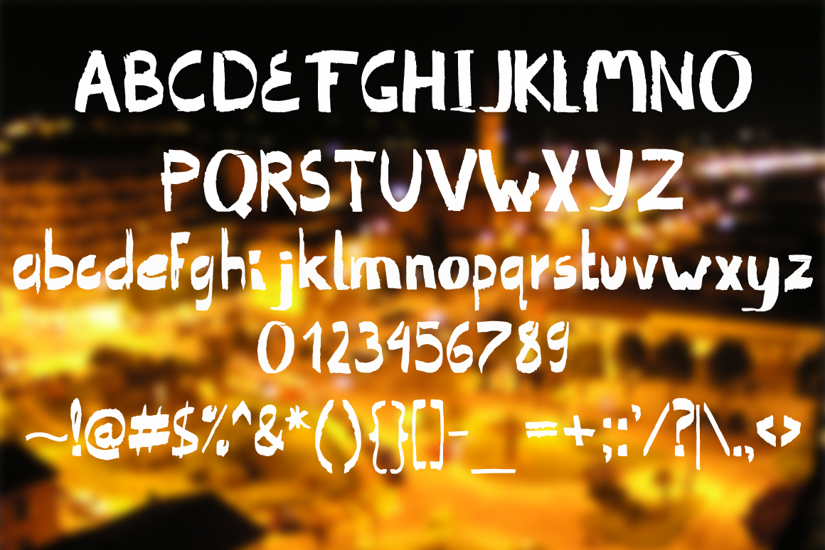 Ragged. Handwritten font. example image 2