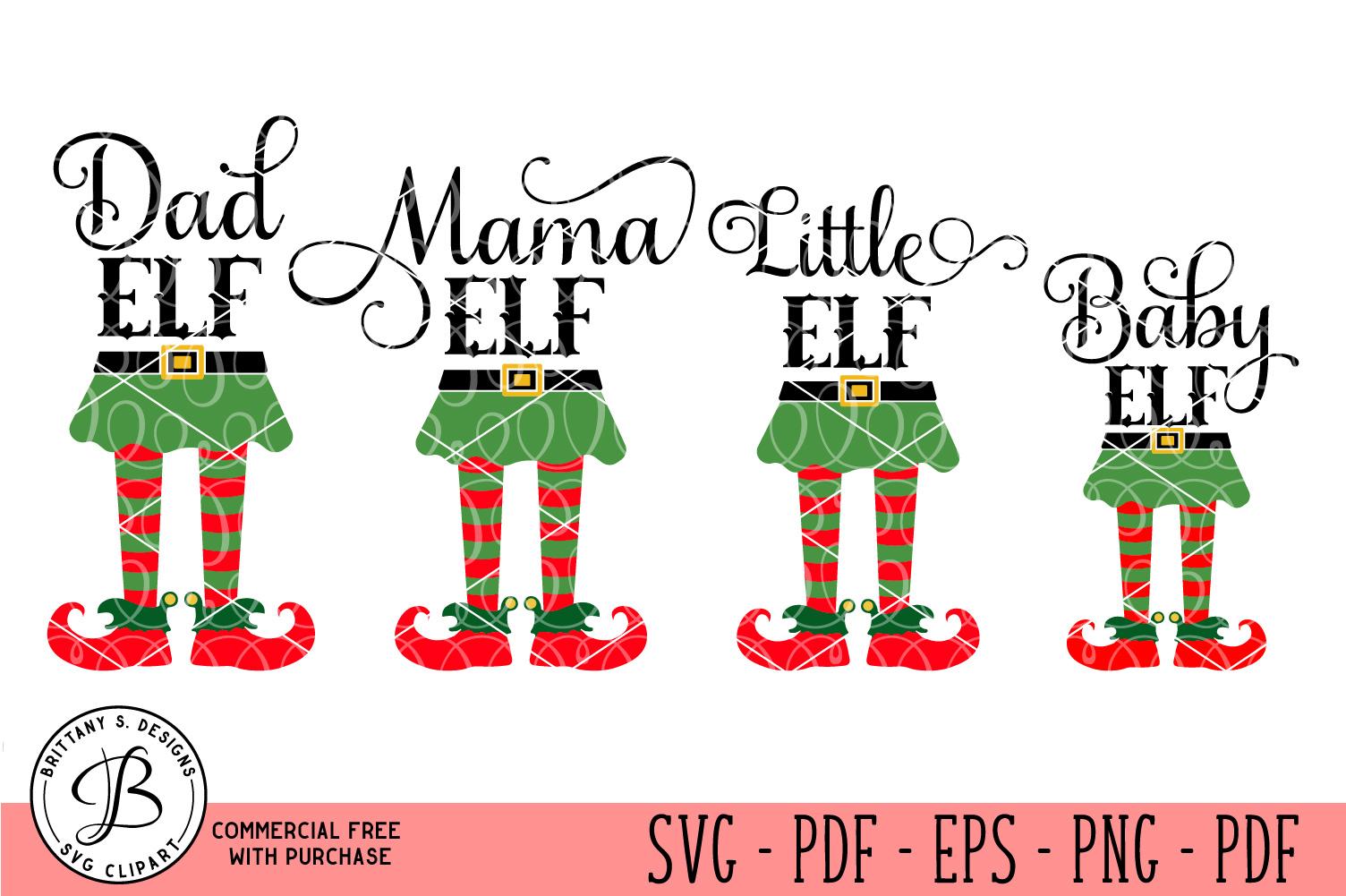 Elf Family Bundle Elf Svg Elf Family Svg