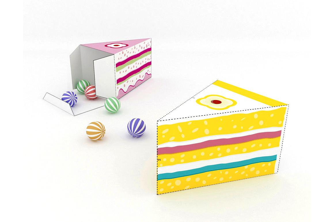 DIY Cake favor - 3d papercraft example image 2