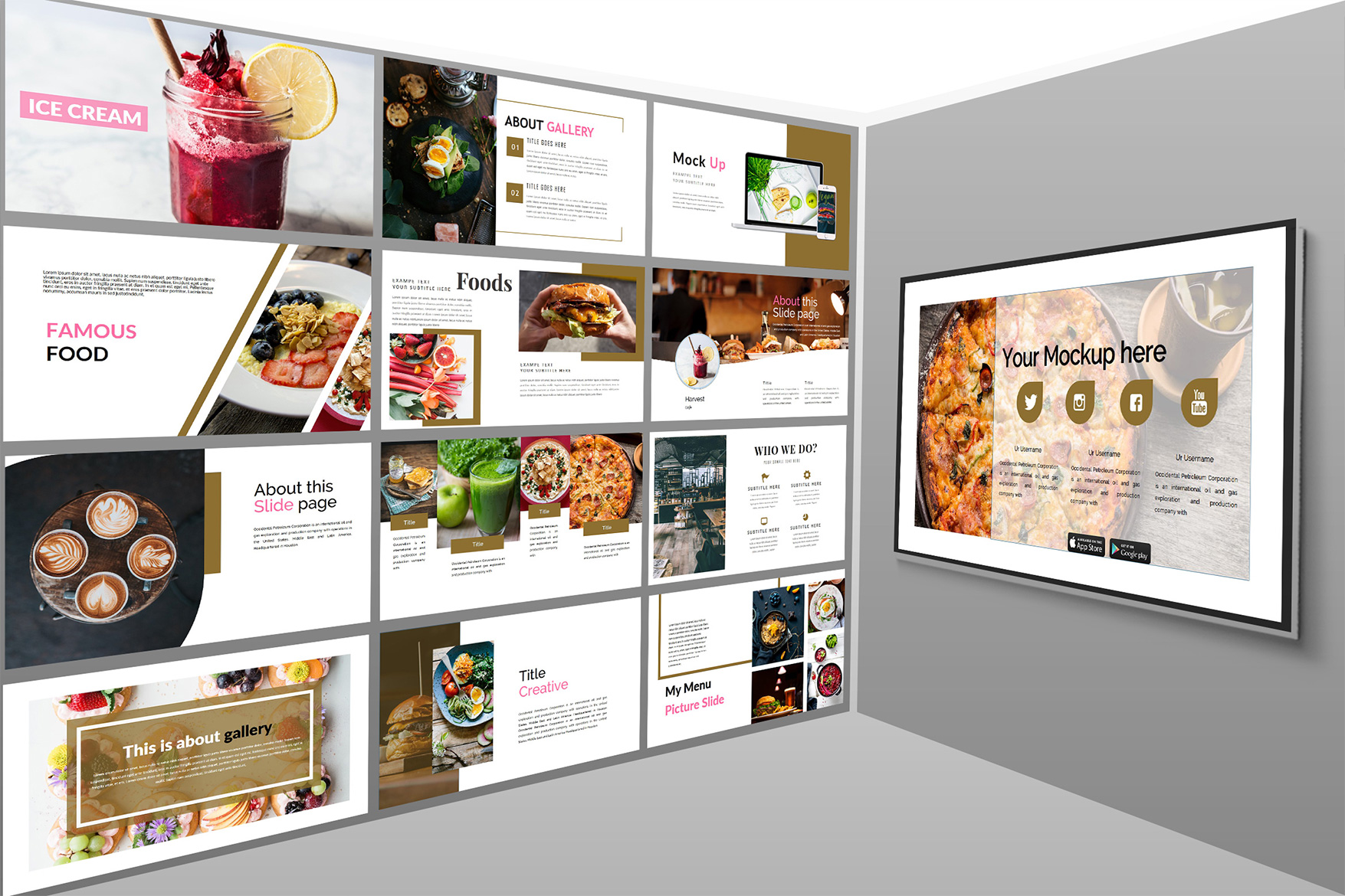 Delicious Food - Powerpoint Template example image 5