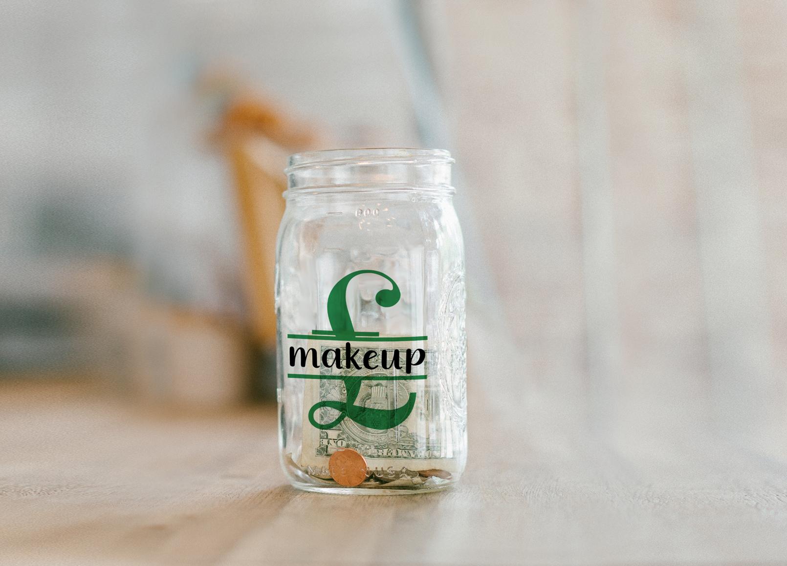 Saving for Makeup Bank Design, Savings Series, SVG example image 4