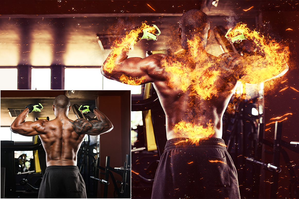 Fire Photoshop Action example image 7