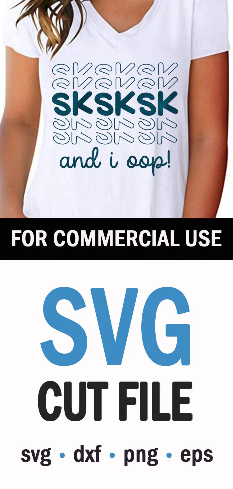 VSCO Girl - Sksksk - And I Oop - SVG, PNG, EPS, DXF example image 2