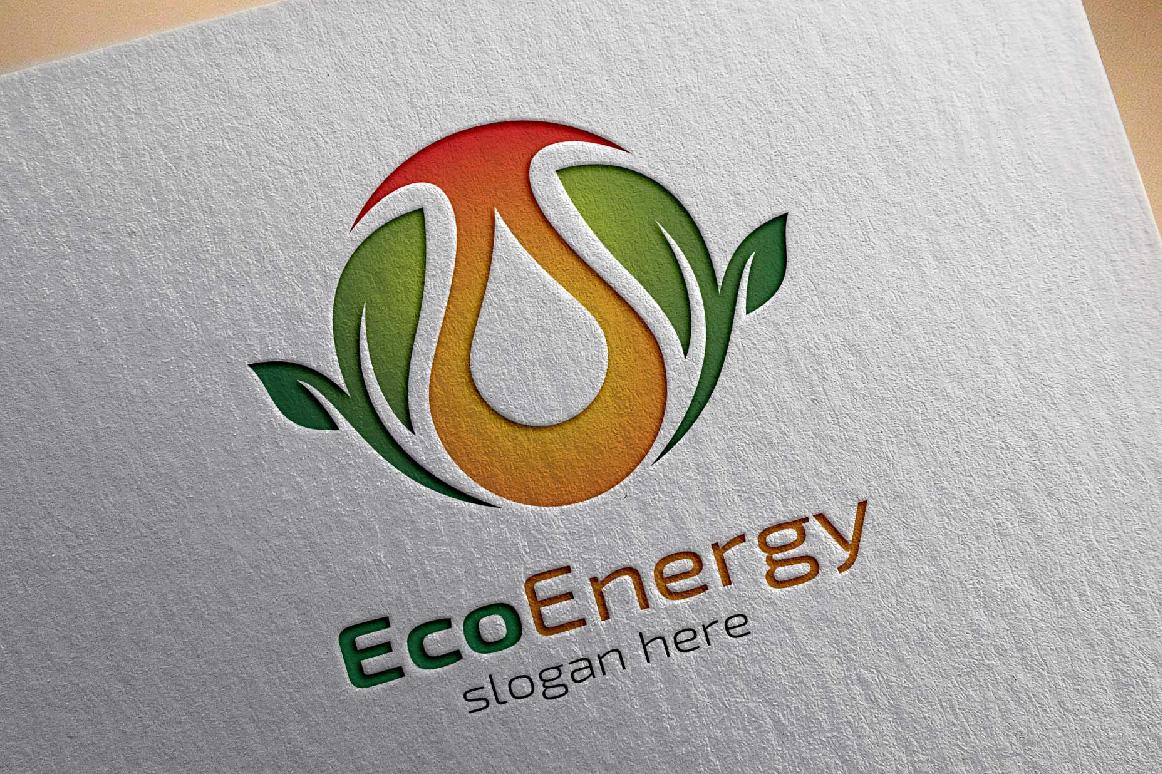 Eco water, Eco energy logo template example image 2