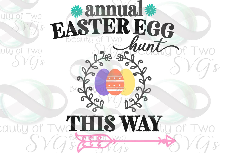 Easter Egg Hunt svg, Easter sign svg, Easter svg example image 2