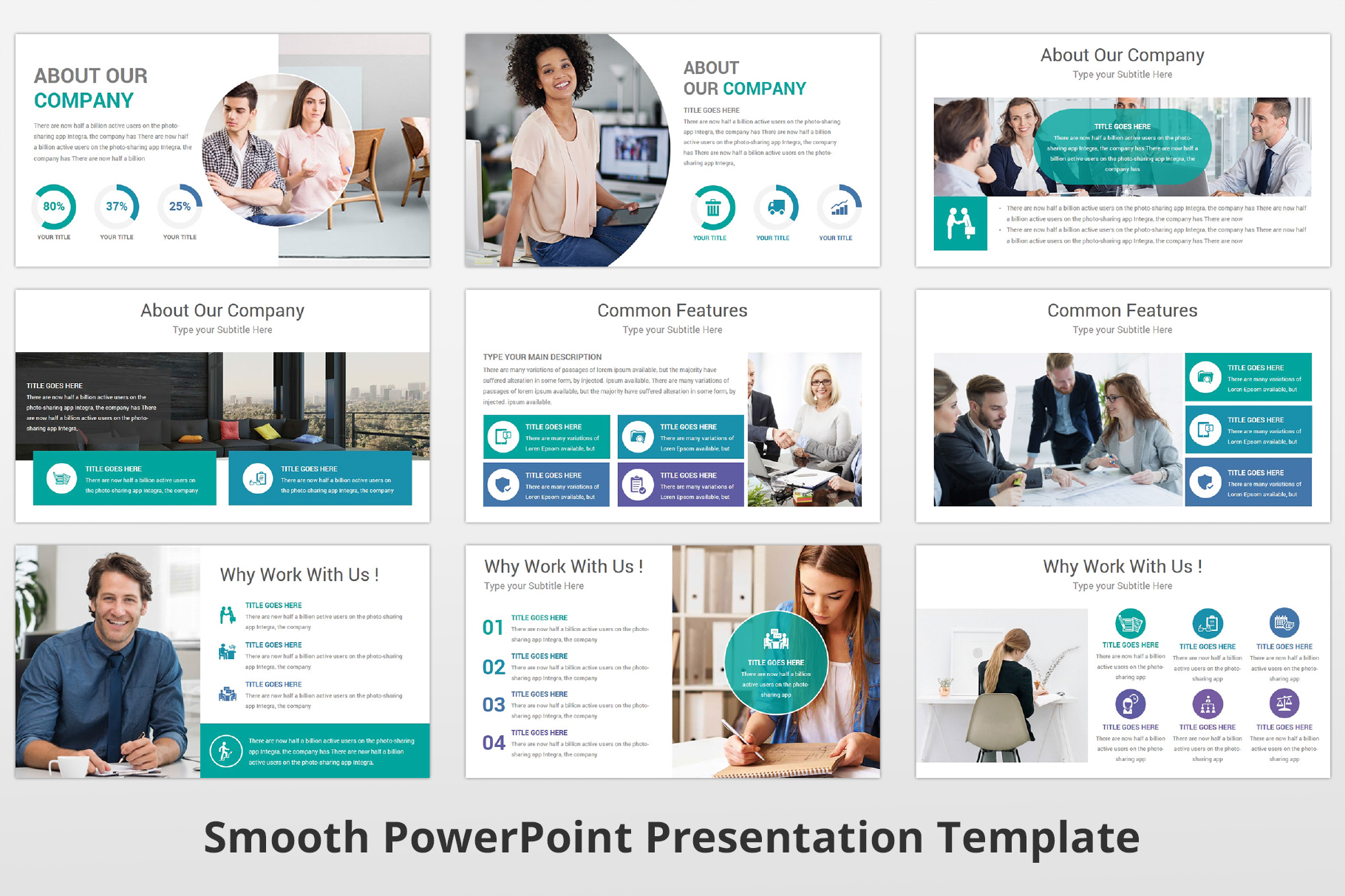 Smooth multipurpose PowerPoint Presentation Template example image 6