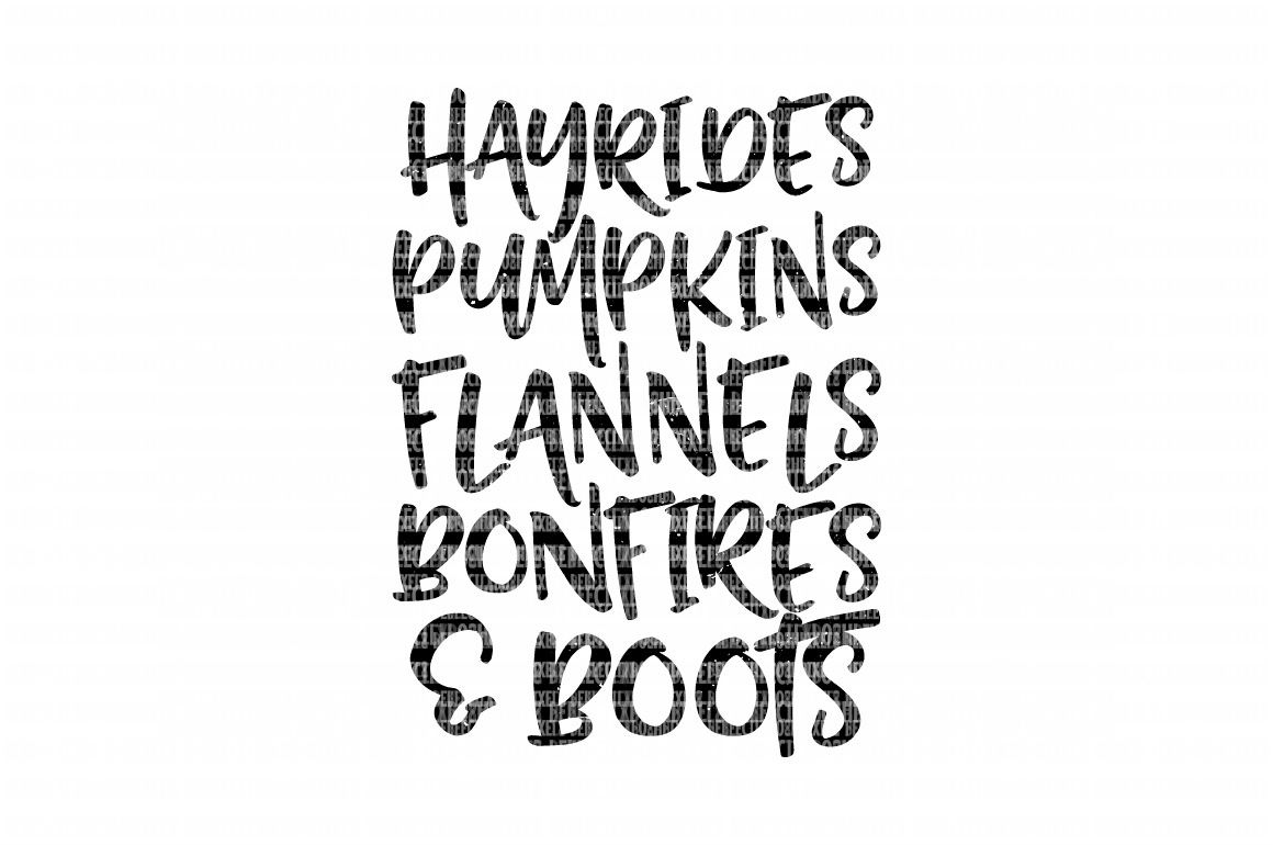 Fall Things Distressed SVG File, Hayrides, Pumpkins, Flannels, Iron On Decals, dxf for Cricut, Svg Files, svg For Cricut, SVG for Silhouette example image 2