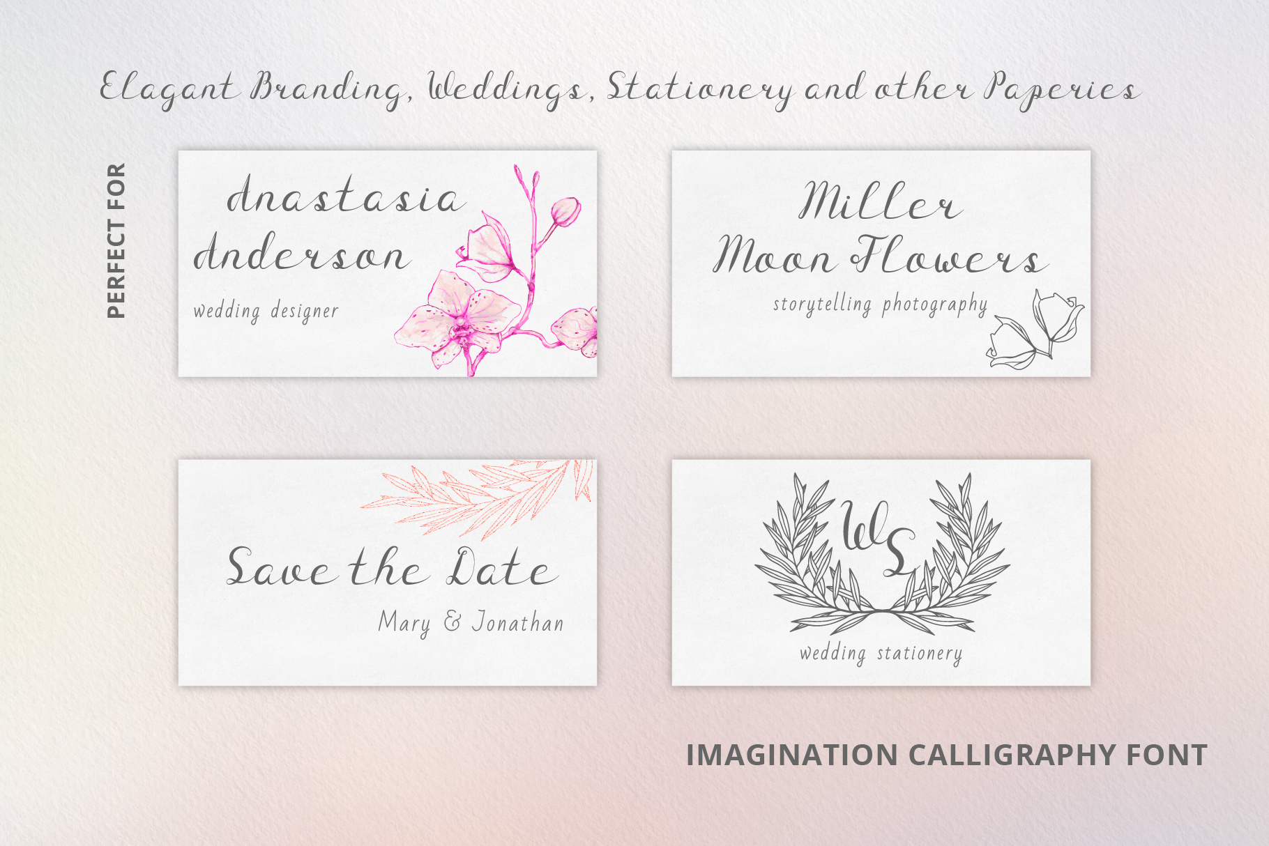 Imagination Calligraphy Font example image 5