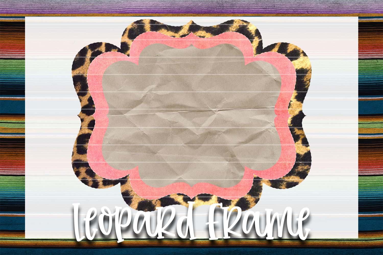 Pink Grunge & Leopard Frame Background Element example image 1