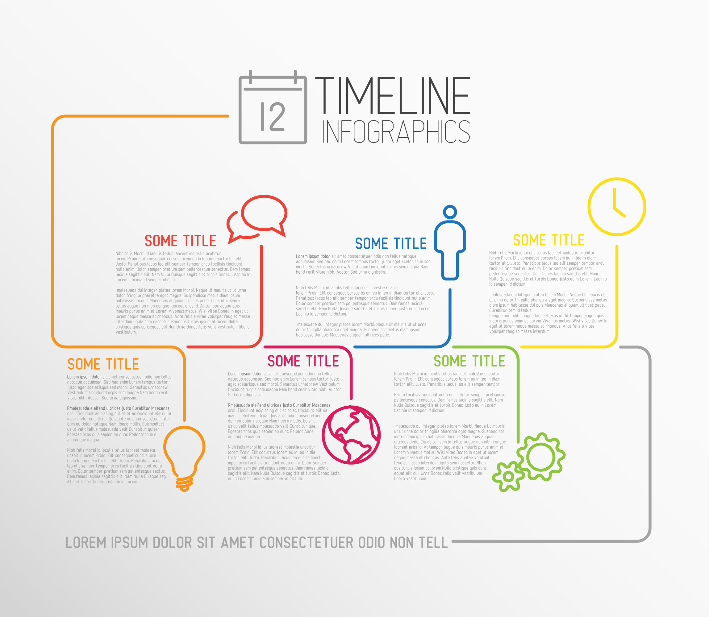 Infographic Timeline Templates Bundle example image 6