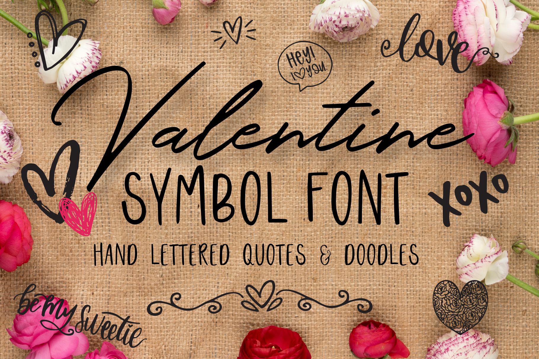 Valentine Symbols Font example image 1