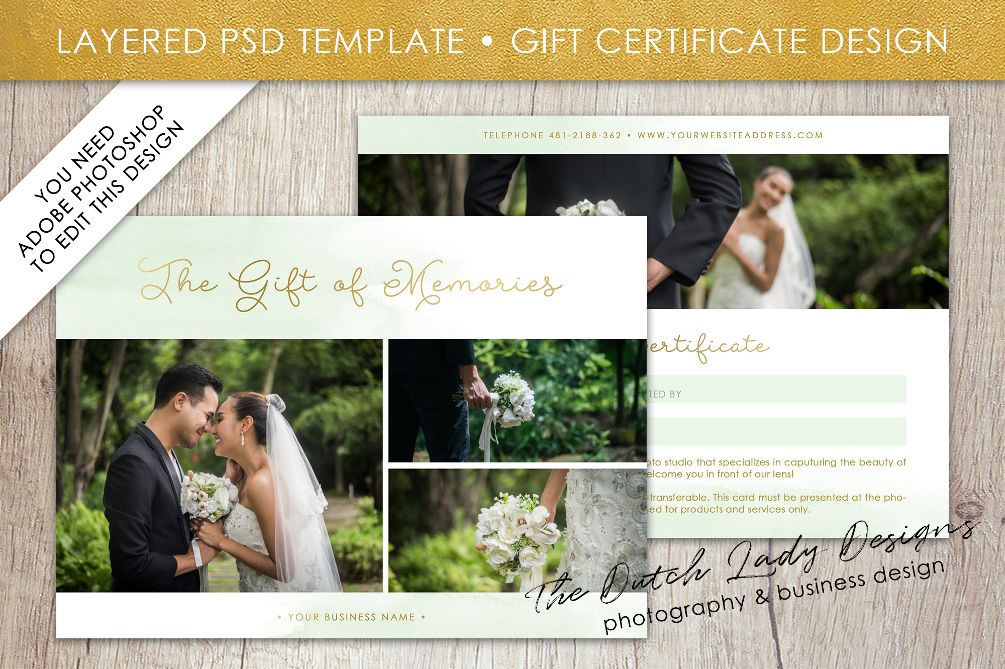 photo gift card template for adobe photoshop 50 example image 1