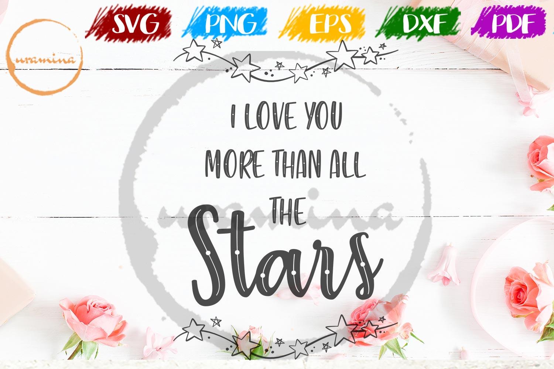 I Love U More Valentine SVG PDF PNG example image 1
