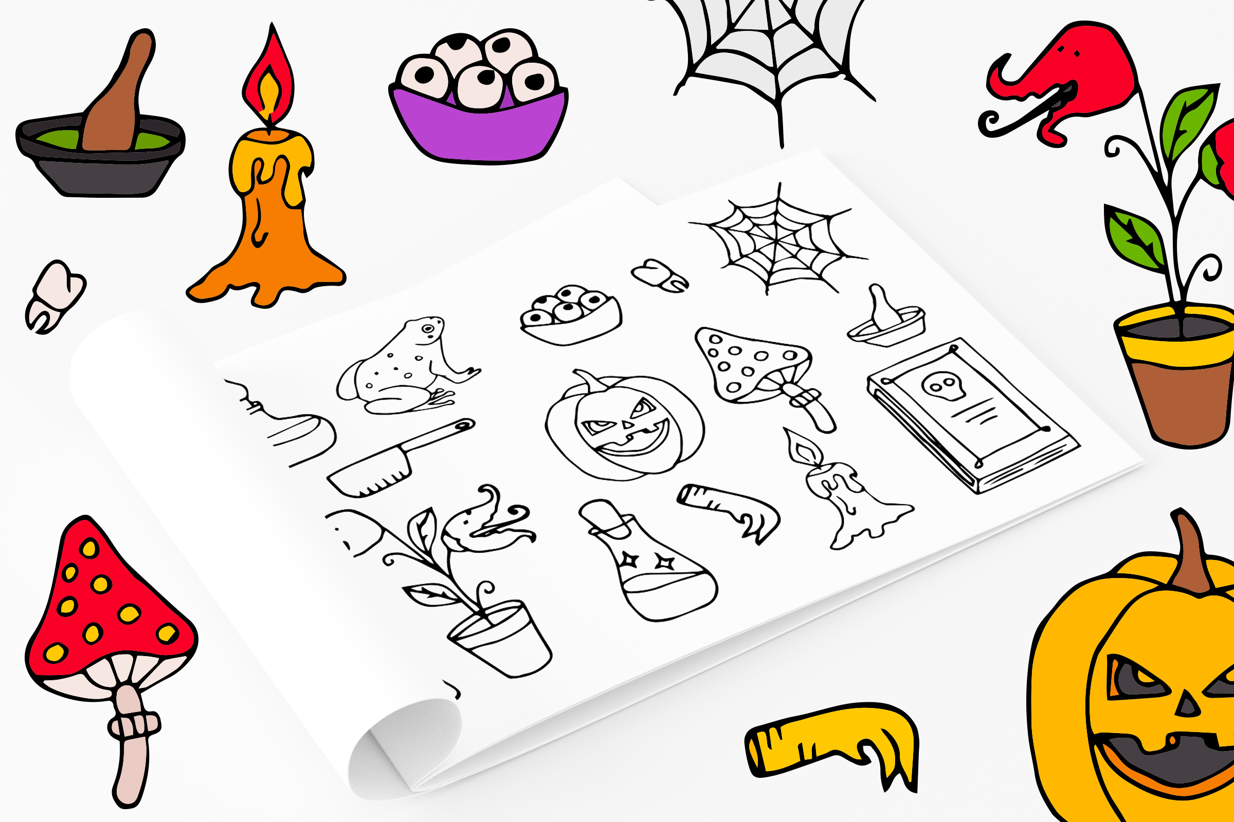 Halloween collection. Patterns, Elements, Posters example image 8