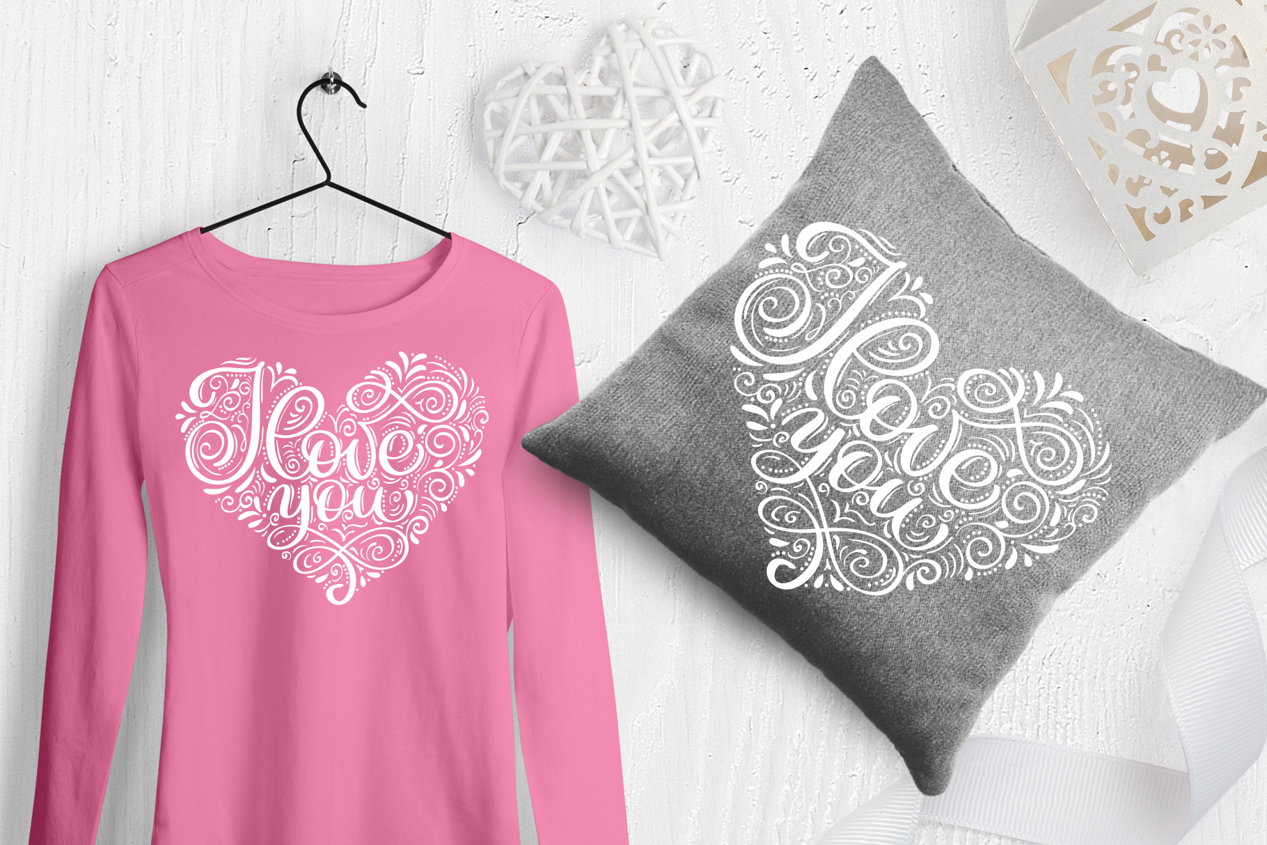 I Love You Vector Valentine Quote SVG example image 3