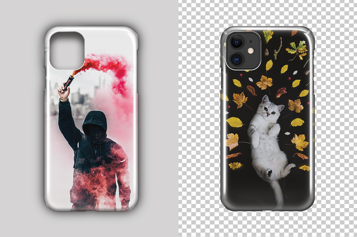 Apple iPhone 11 3d IMD Phone Case Mockup Back View example image 3