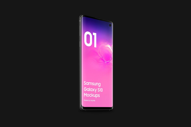 Samsung Galaxy S10 - 21 Mockups - 5K - PSD example image 22
