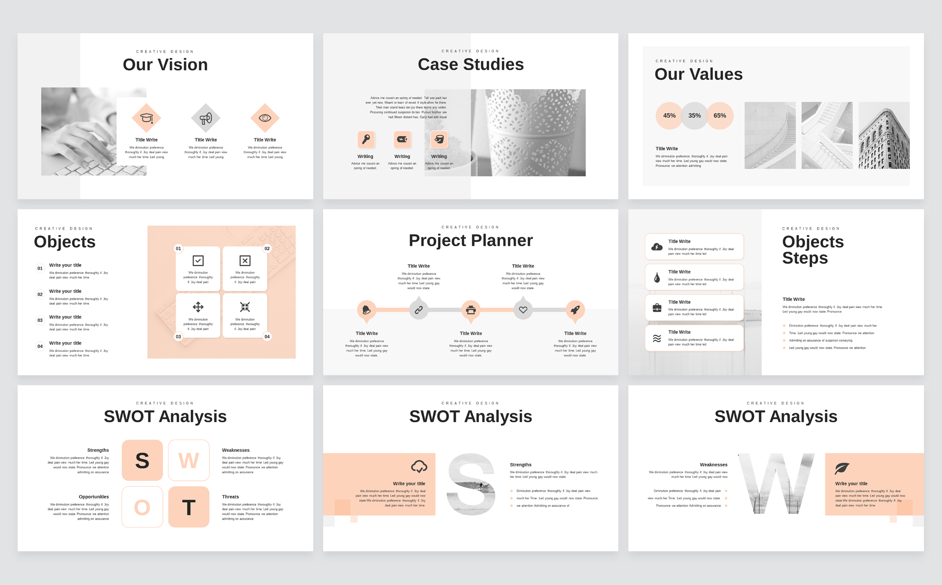 Minimal Business PowerPoint Presentation Template example image 5