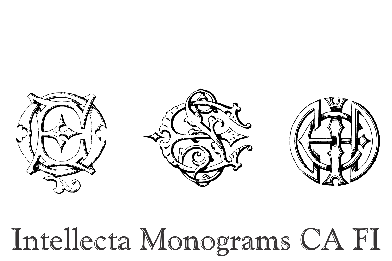 Intellecta Monograms CA FI example image 7