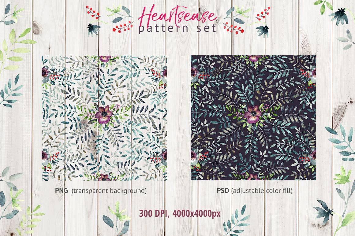 Heartsease pattern set example image 2