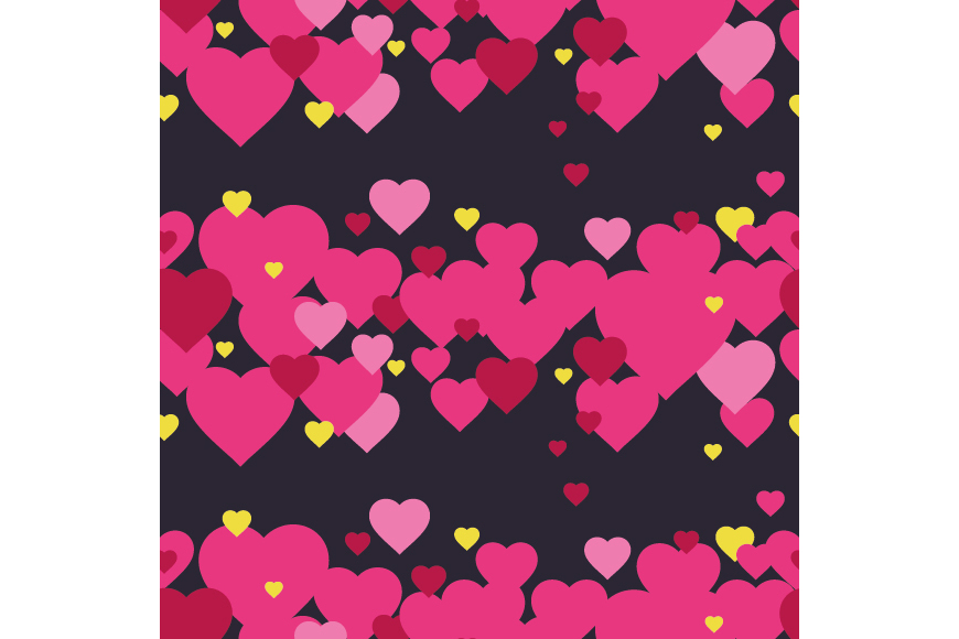 Set of 12 backgrounds with Hearts on Valentine's Day. example image 12