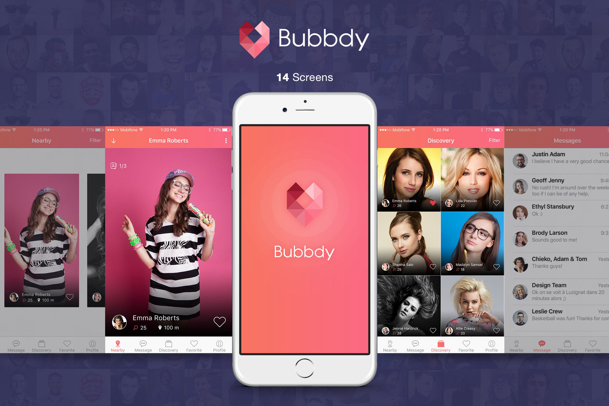 Bubbdy - Dating App example image 1