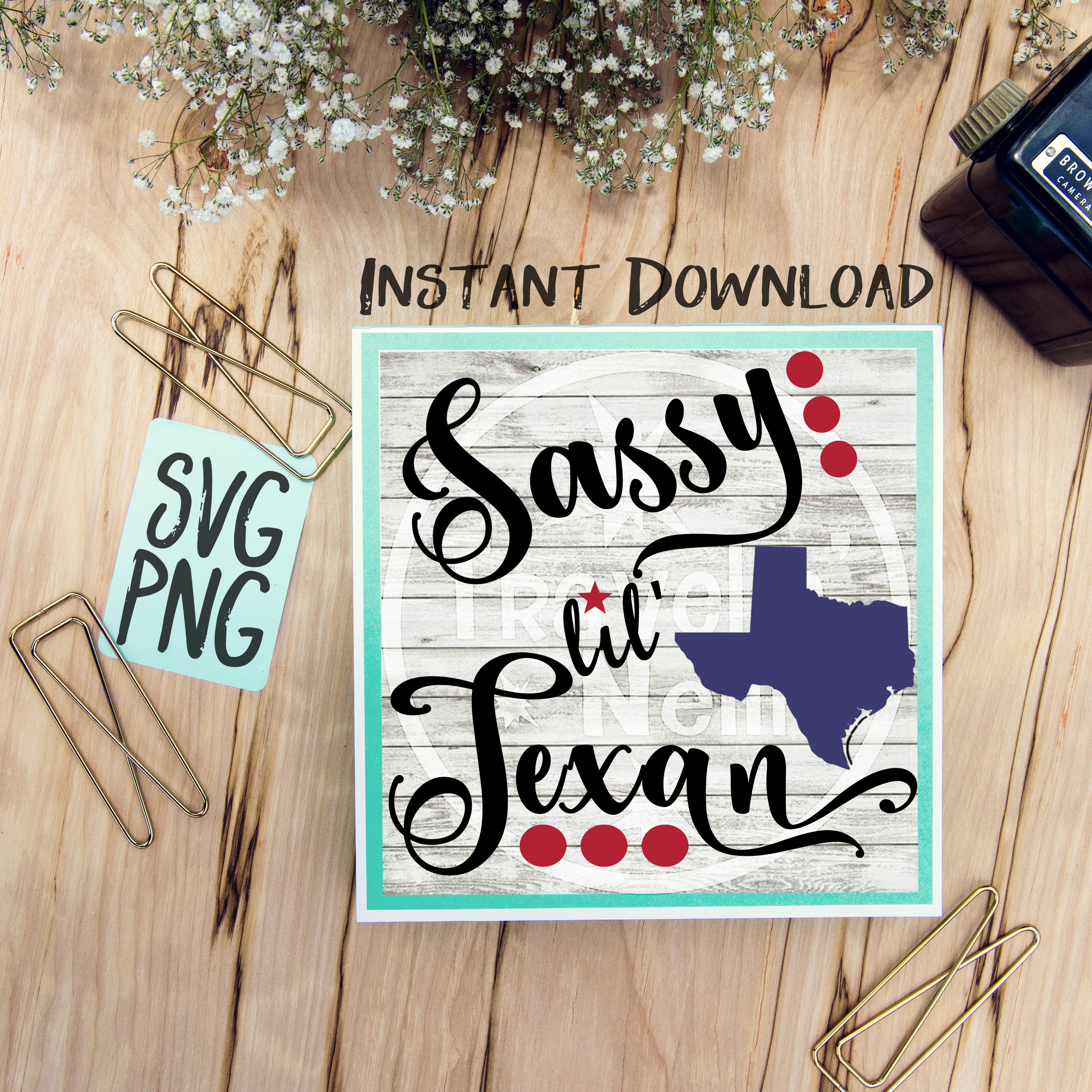 Sassy Lil Texan SVG PNG Image Design for Vinyl Cutters Print DIY Shirt Design Cruise Vacation Anchor Brother Cricut Cameo Cutout example image 1