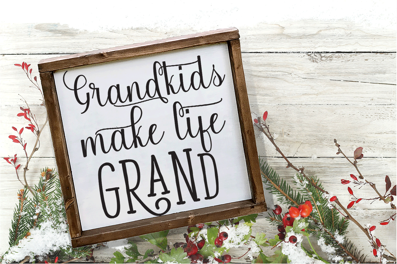 Christmas Svg - Grandkids Make Life Grand example image 2