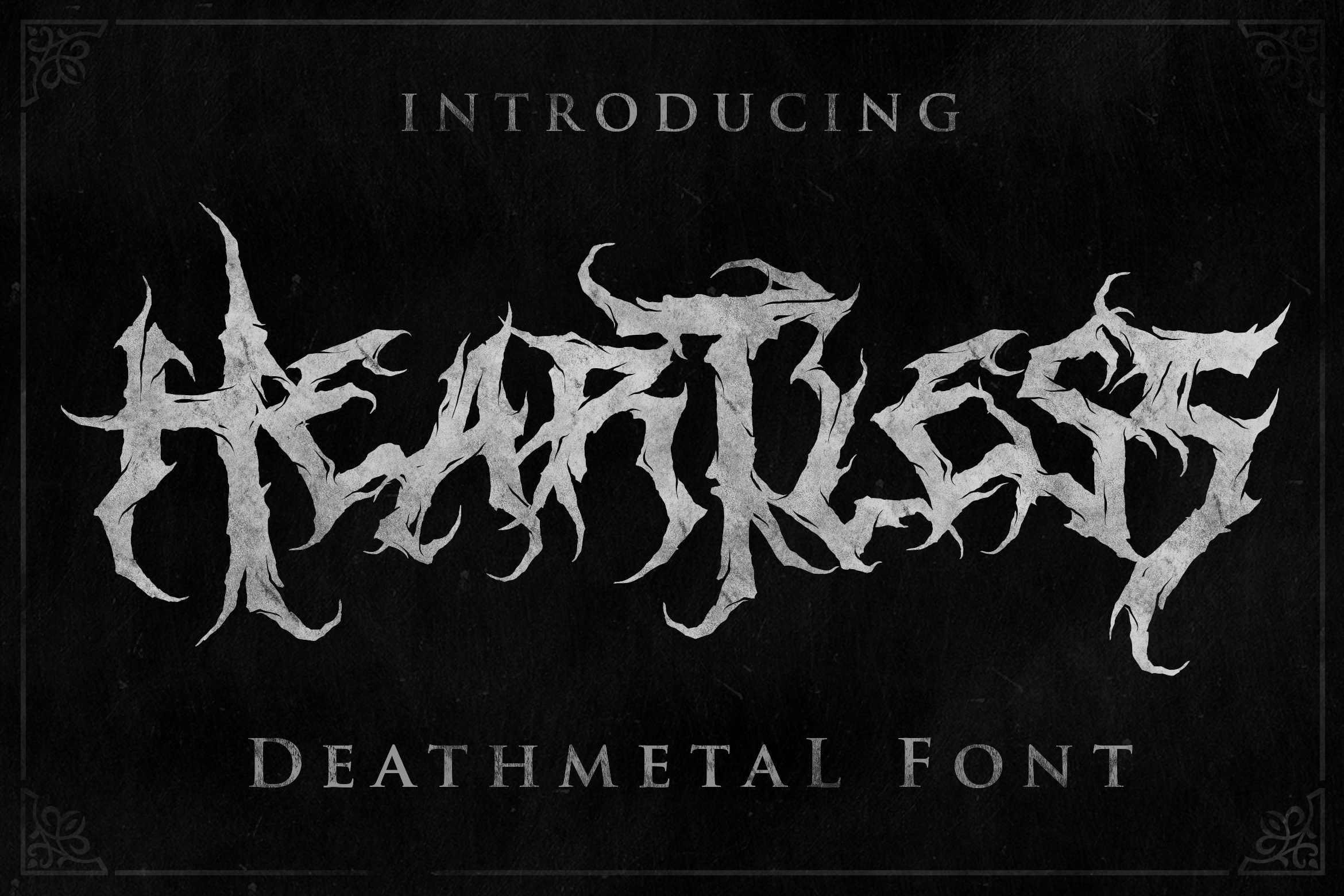Heartless - Most Wanted Deathmetal Font example image 9