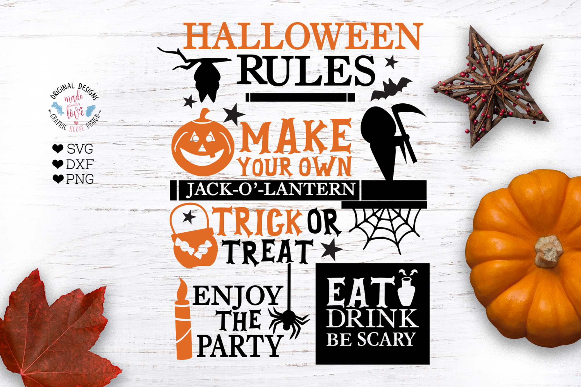 Halloween Rules Cut File example image 2