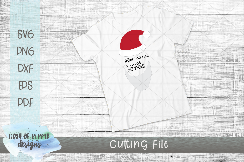 Dear Santa I Was Framed SVG - A Christmas SVG example image 2