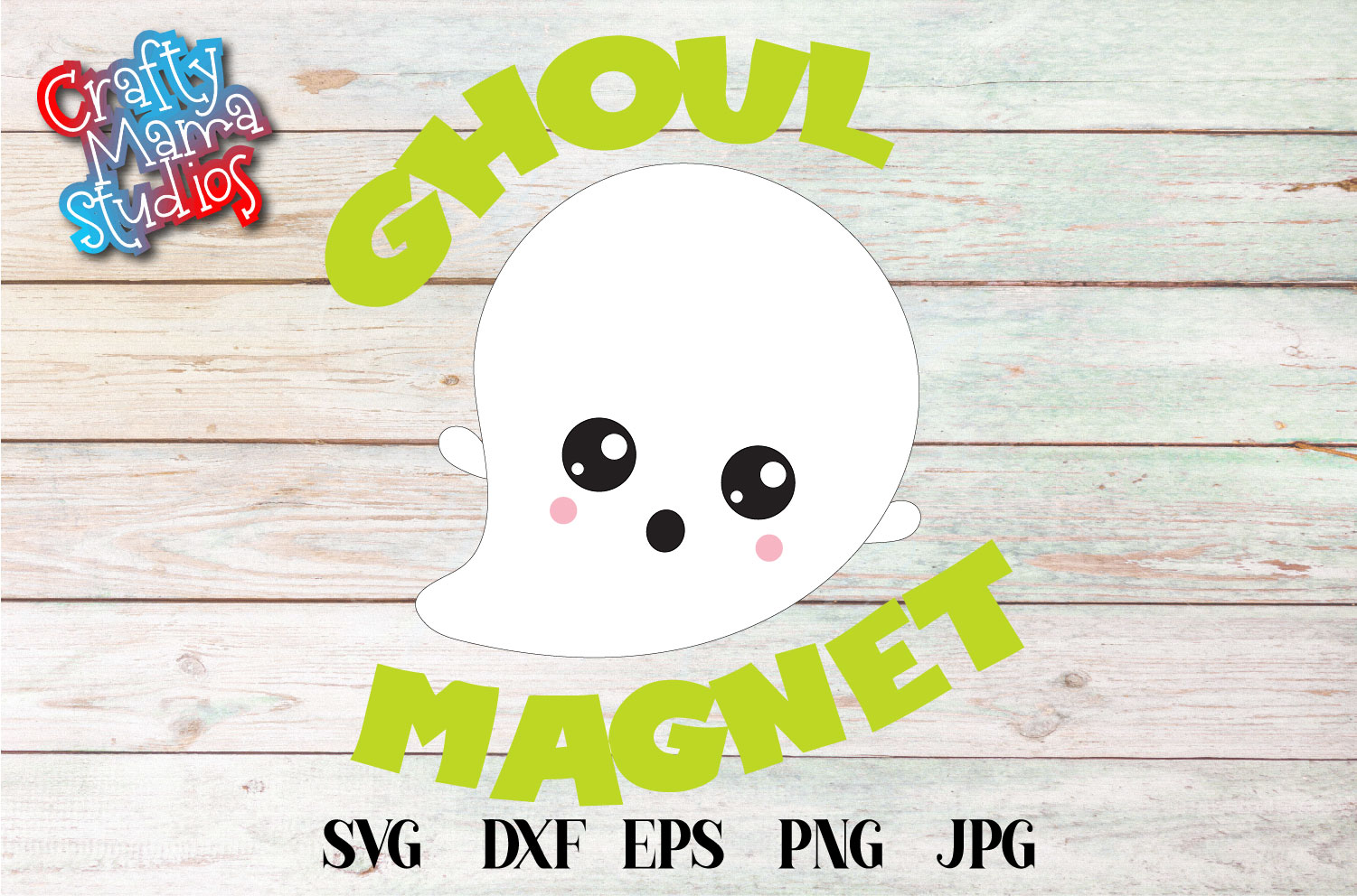 Ghoul Magnet SVG Sublimation, Girl Magnet, Halloween Ghost example image 2