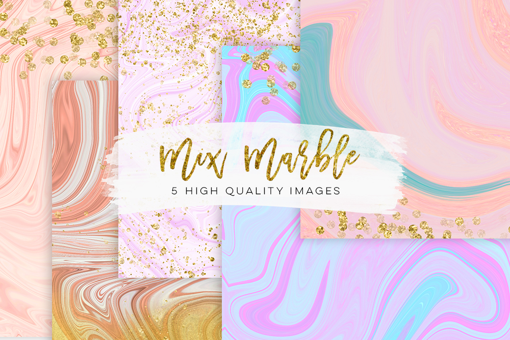Pastel watercolor marble, modern marble wedding, gold marble scrapbooking paper, rose Gold Blush Marble, Gold Marble Wallpaper purple mint example image 1