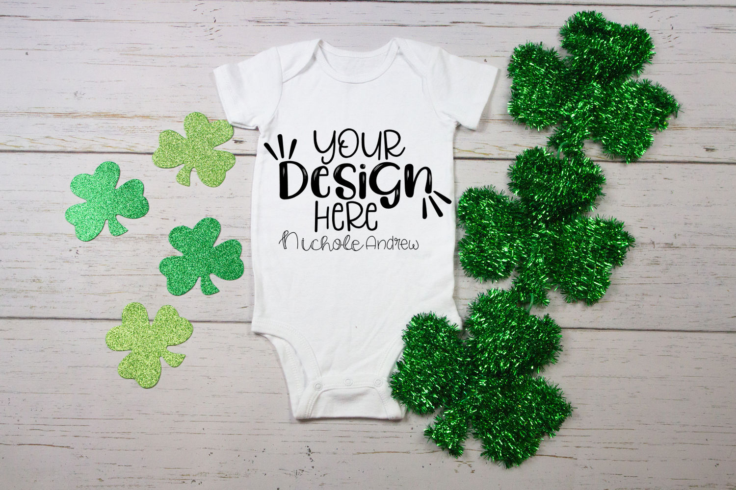 St Patrick's Day Infant Bodysuit Mock-Up example image 1