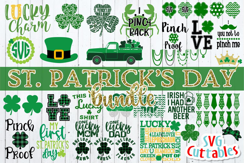 St. Patrick's Day Cut File Bundle example image 1