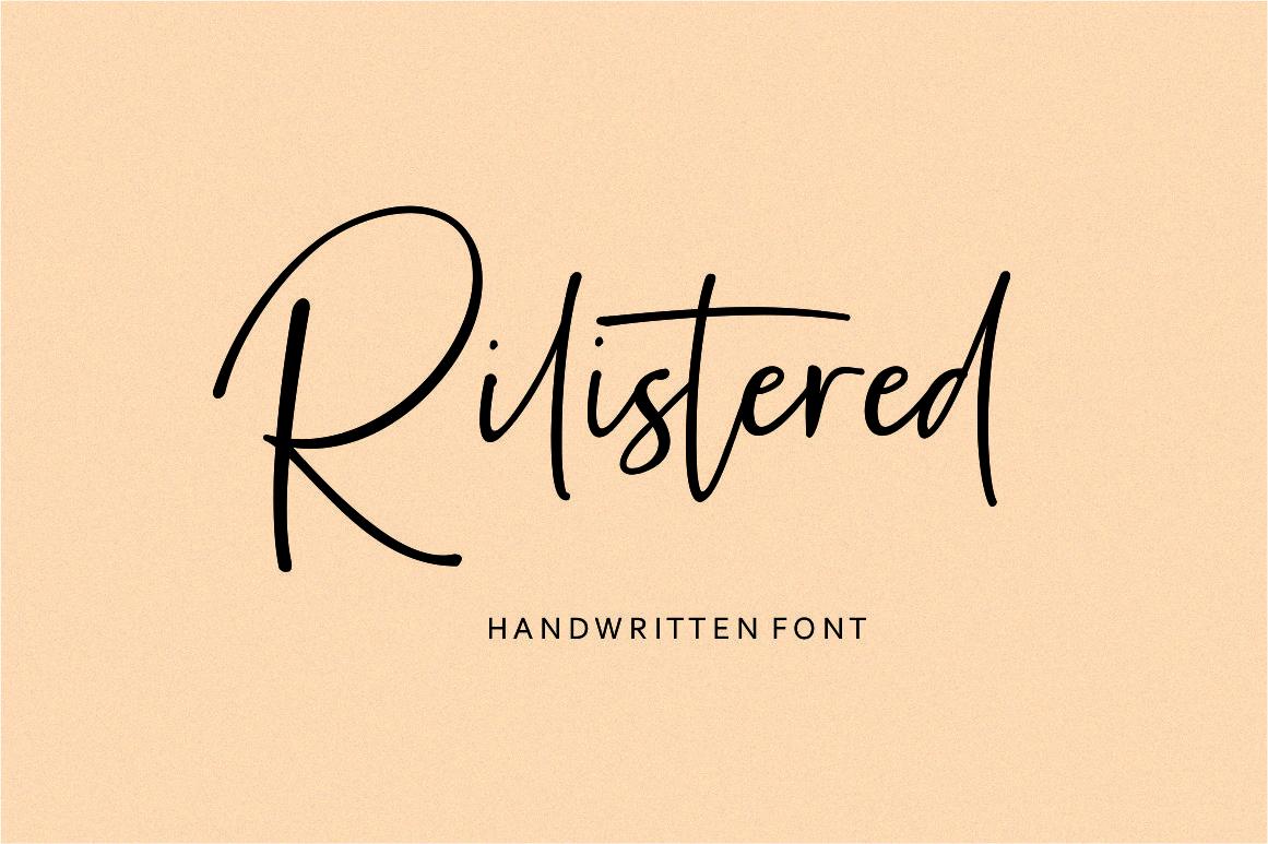 Rilistered // Handwtitten font example image 1