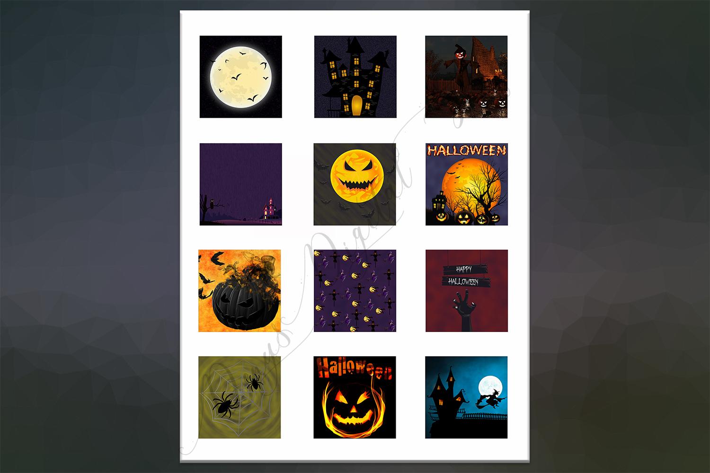 Halloween, Halloween Digital Collage,2x2,1.5x1.5,1x1 inch example image 3