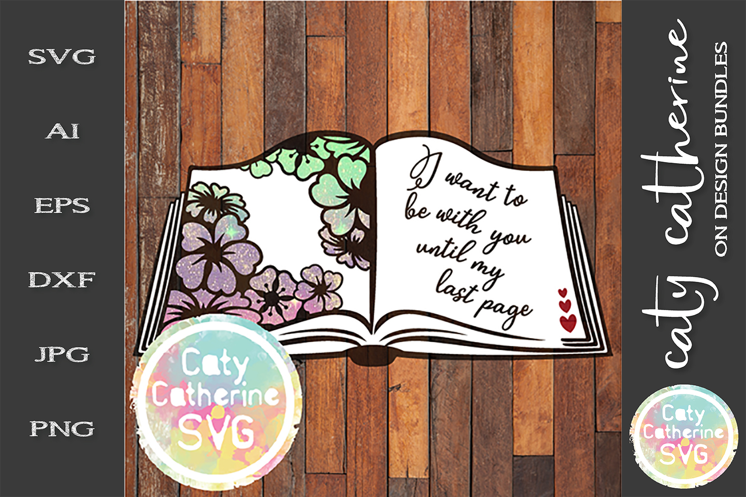I Want To Be With You Until My Last Page SVG Cut File example image 1
