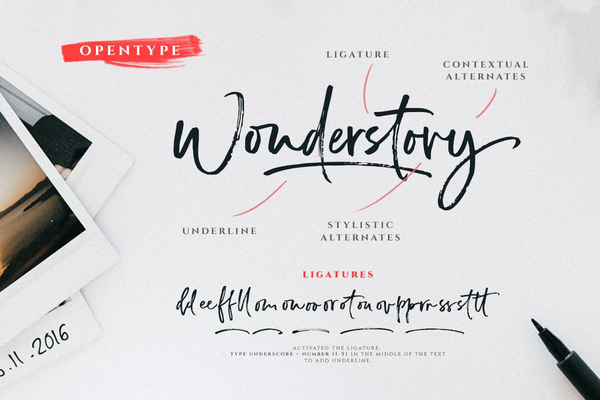 Wonderstory - Brush Script example image 8