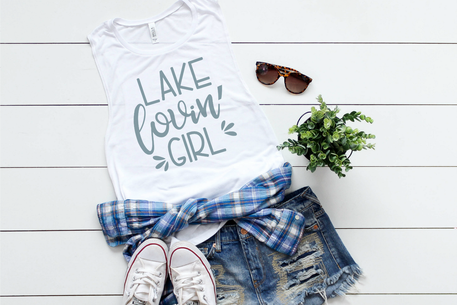 Lake - Summer - Girl- Lake Lovin' Girl SVG example image 2