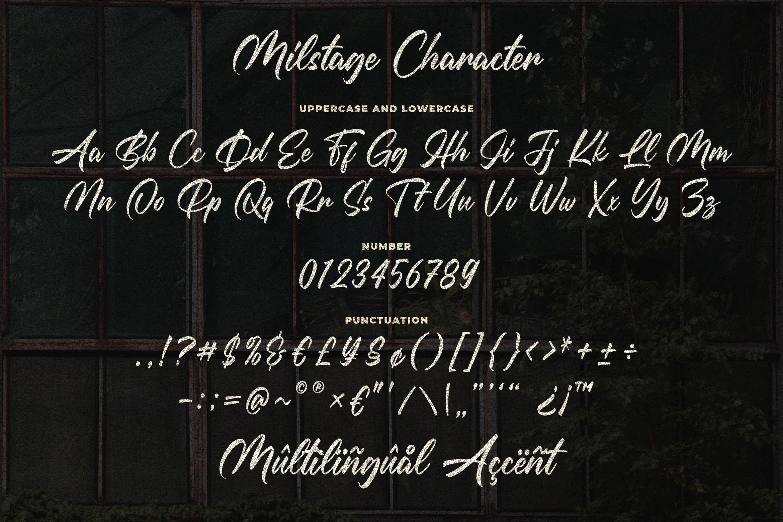 Milstage - Brush Calligraphy Script example image 4