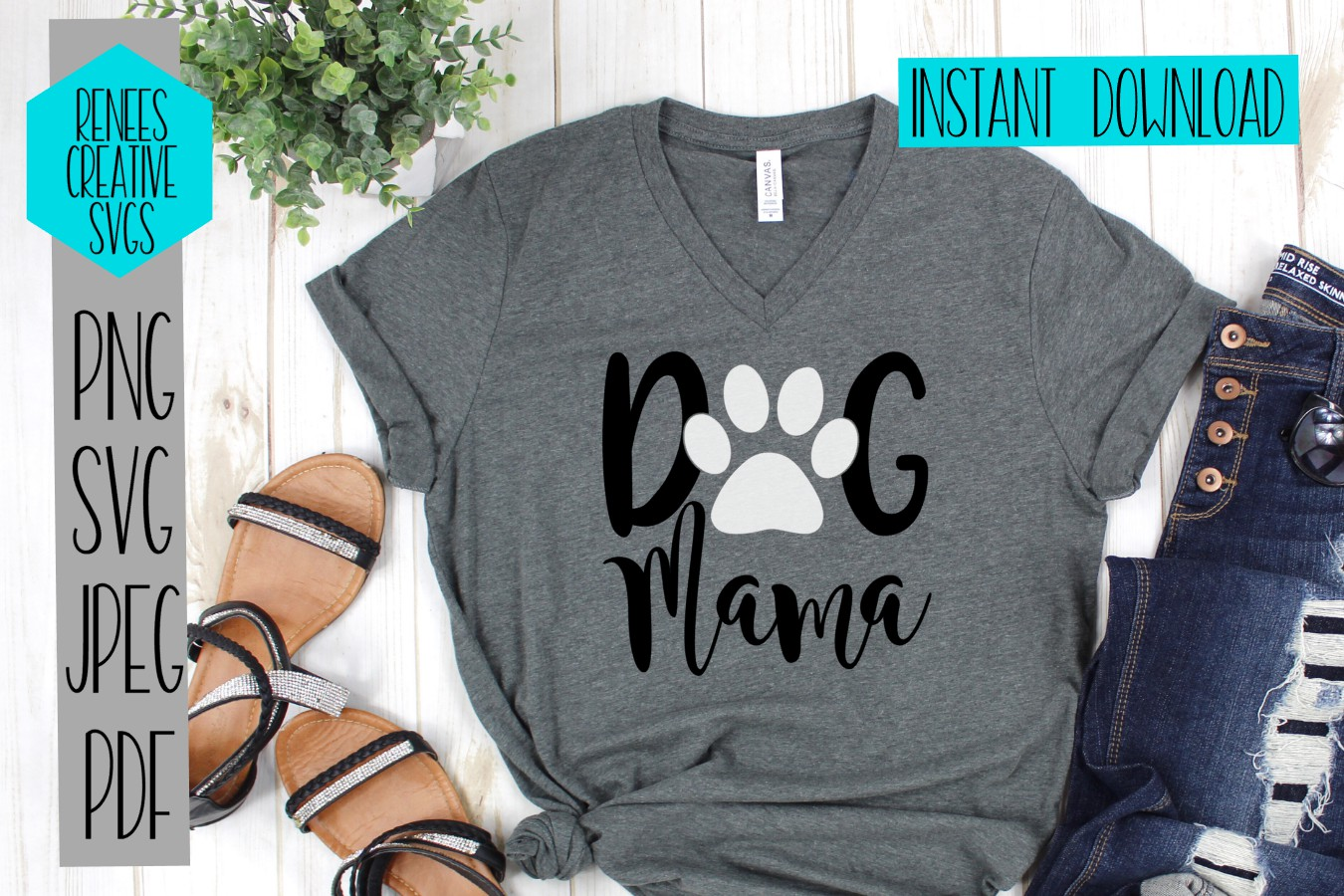 Dog Mama | Pet SVG | SVG Cut File example image 2