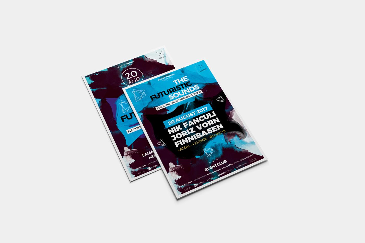 The Futuristic Festival Flyer Template example image 3